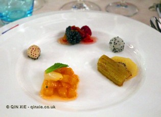 Salad of fruit, James Beard American Restaurant, Milan