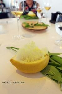 Fish lemon and half lemon, Quique Dacosta, Denia
