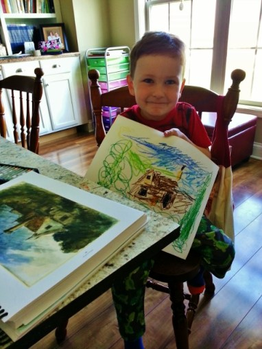 Littlest and his art appreciation project