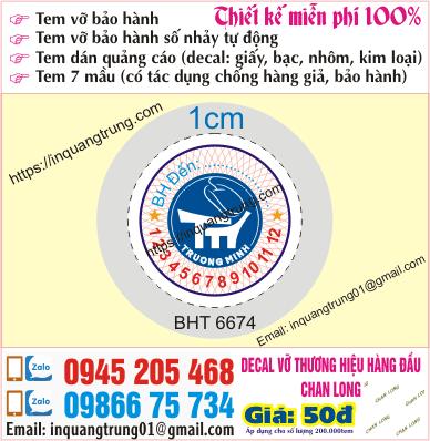 In tem bảo hành tại Đồng Nai