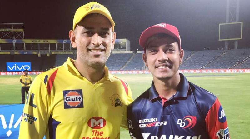 Sandeep Lamichhane in ipl with ms dhoni