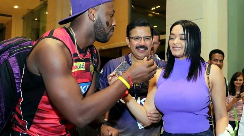 Andre Russell kkr after match knight club party