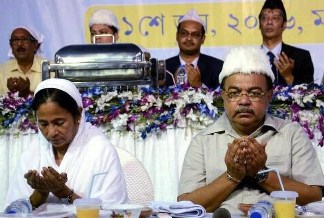 Mamata Banerjee attends iftar at Kolkata