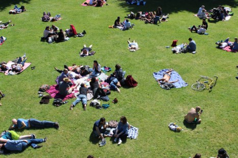 People in the park France