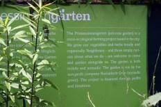 Princezzinnen Garten welcome sign