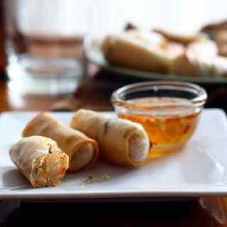 Baked Vegetarian Spring Rolls // Inquiring Chef