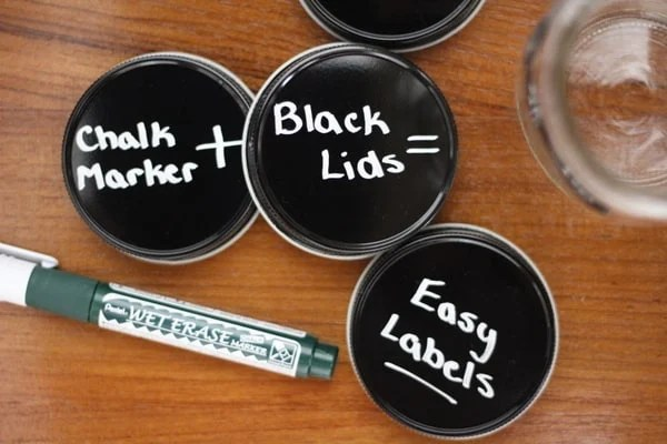 Chalk Markers for Easy Kitchen Storage