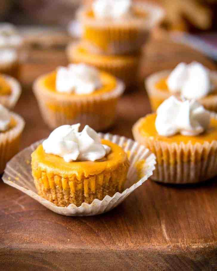 Pumpkin Cheesecake Bites Inquiring Chef