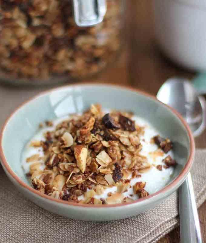 Chai Spice Granola with Almonds and Coconut