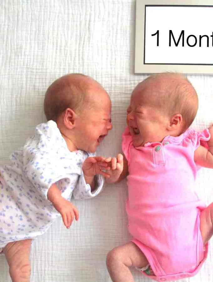 Molly and Clara – 1 month