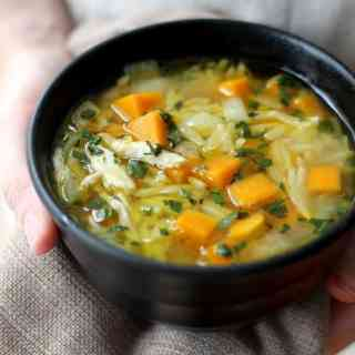 Chicken, Butternut Squash, and Orzo Soup
