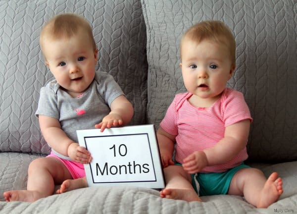 Molly and Clara – 10 Months