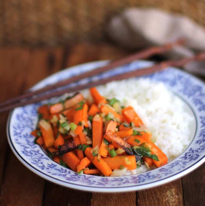 Wok-Fried Ginger Scallion Carrots