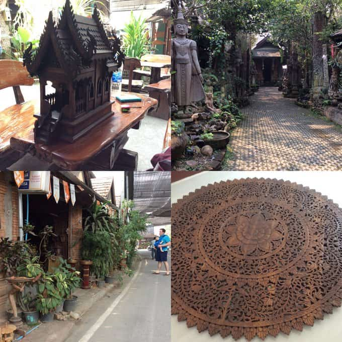 Chiang Mai Word Carvings
