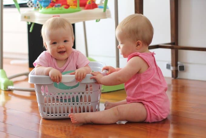 Molly and Clara_Laundry Basket_One Year