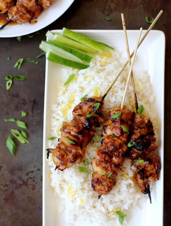 Honey Garlic Glazed Chicken Skewers
