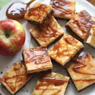 Apple Cider Bars with Caramel Topping