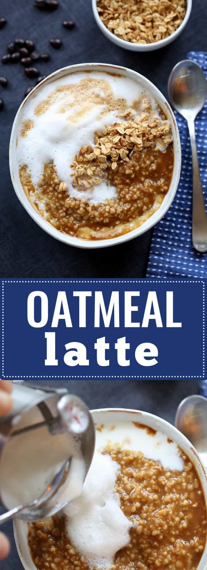 Oatmeal Latte- warm steel cut oats, frothy milk, hot coffee and brown sugar- delicious!