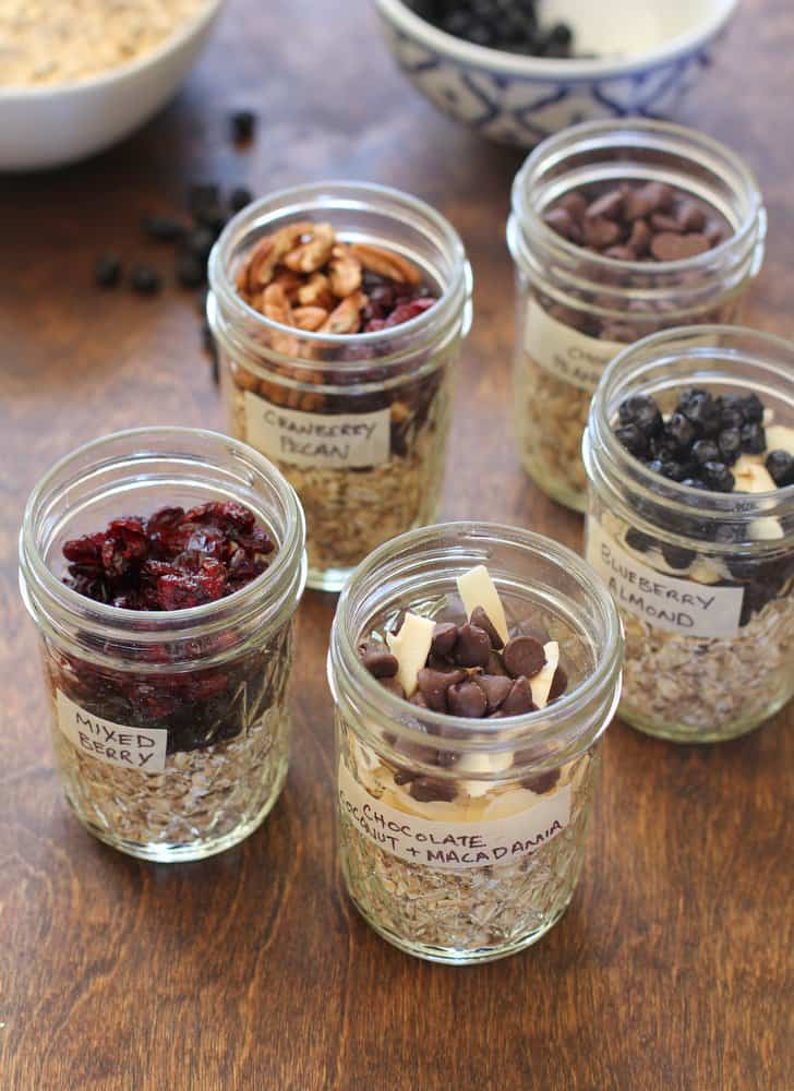 Homemade Instant Oatmeal in ball jars