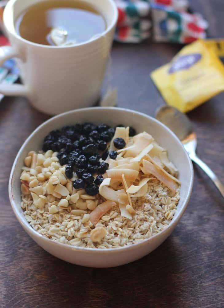 Homemade Oatmeal in a bowl