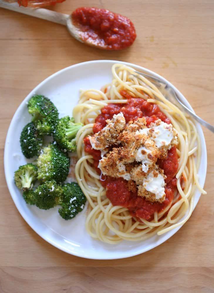Baked Chicken Parmesan via @InquiringChef