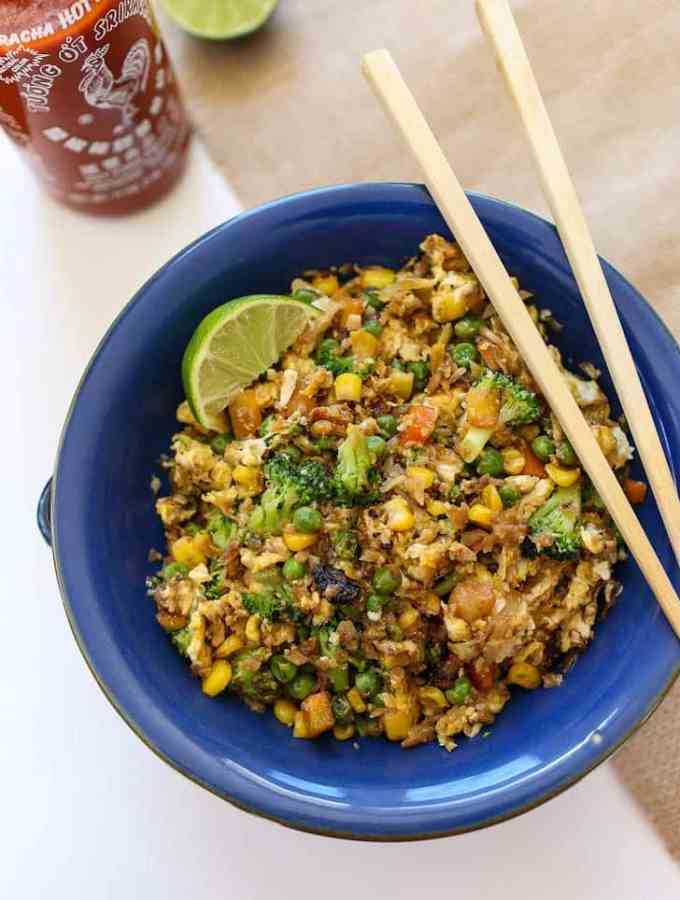 Fast and Easy Cauliflower Fried Rice
