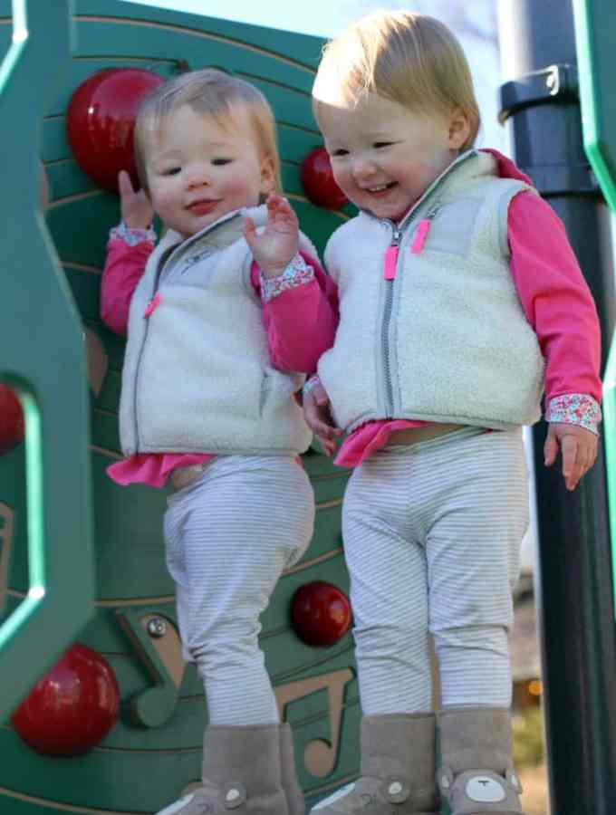 Molly and Clara – 22 Months