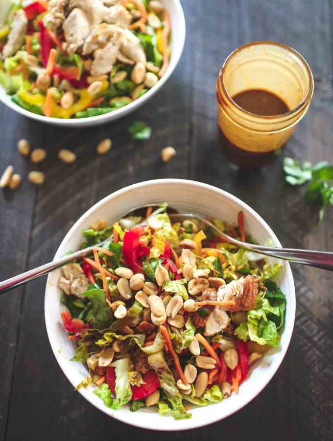 Thai Chopped Chicken Salad with Peanut Vinaigrette