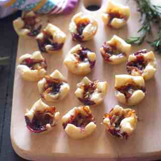 Savory Pastry Bites with Caramelized Onions and Gouda
