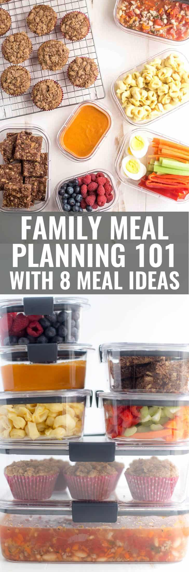 Family Meal Planning Basics with 8 ideas for easy family meals & Meal Prep Basics - Simple Healthy Meals for a Busy Family ...