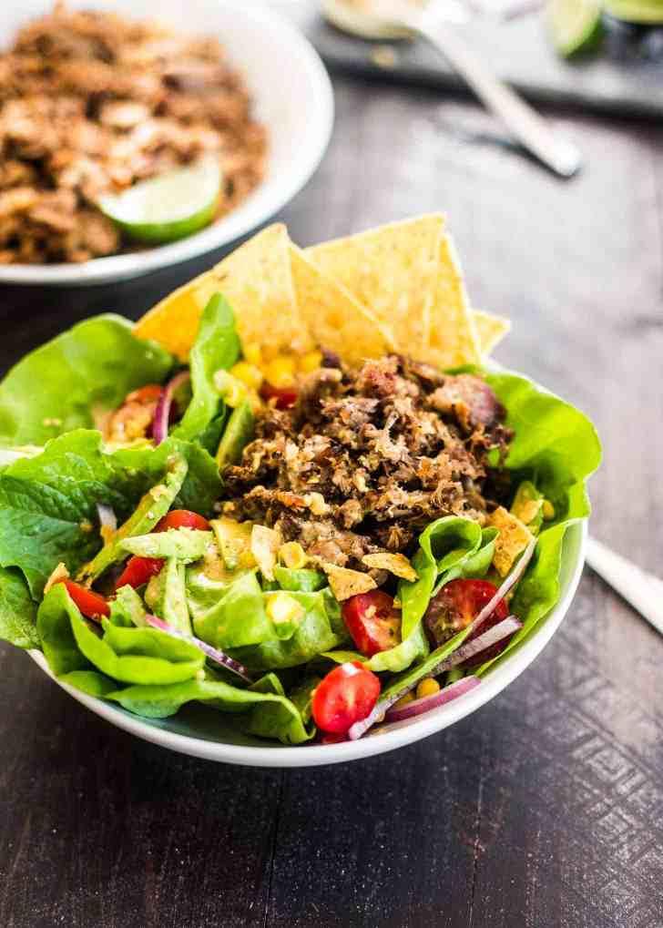 Slow Cooker Carnitas Taco Salad