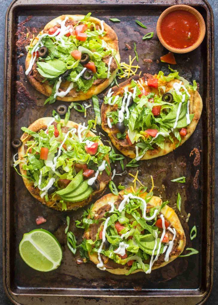 Mexican Pita Pizzas