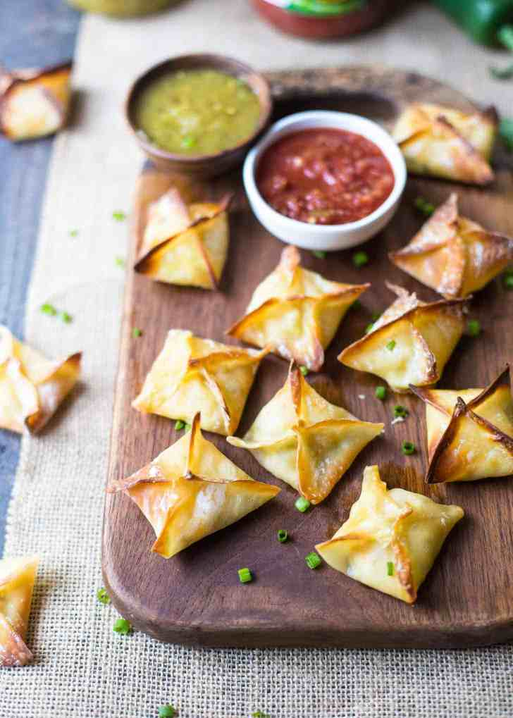 Baked Cheesy Chicken Wontons