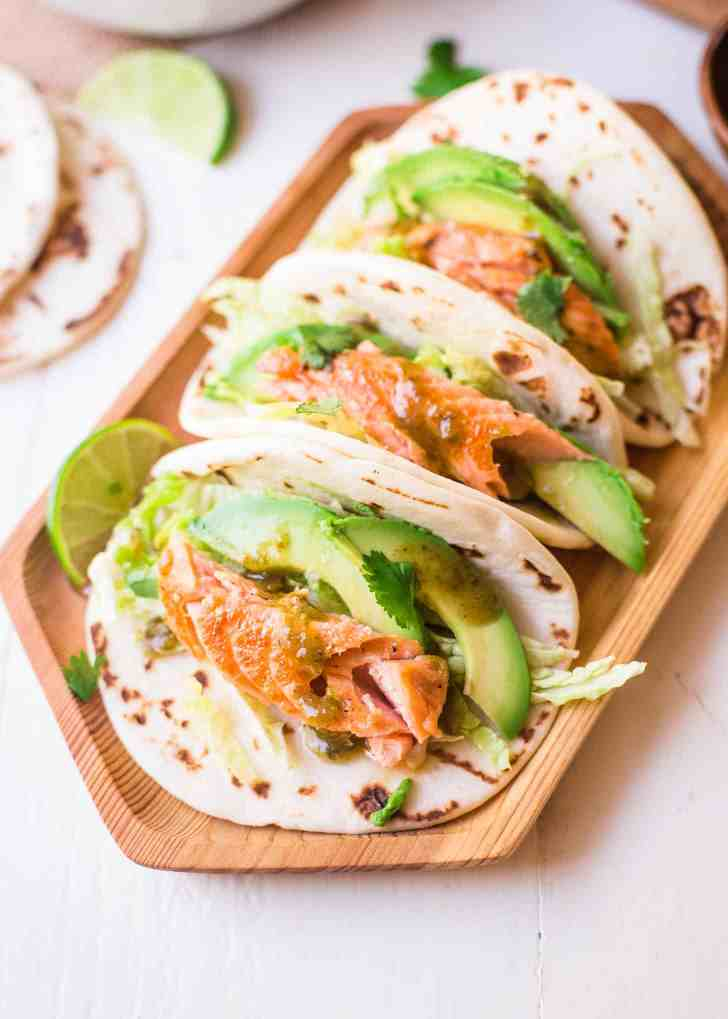 Honey Lime Salmon Tacos