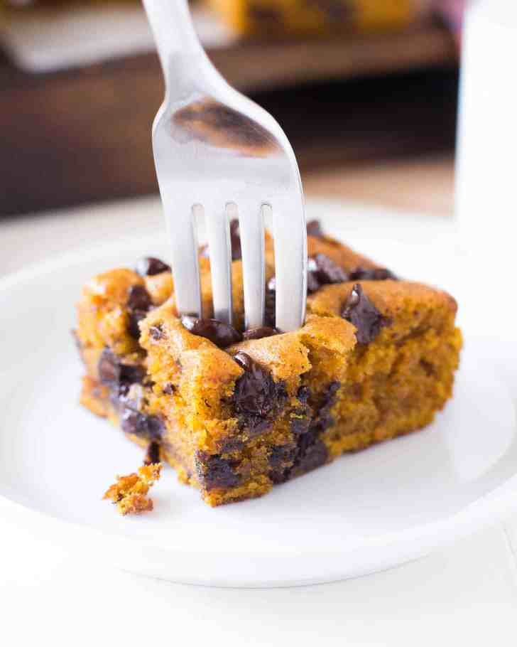 Pumpkin Chocolate Chip Snack Cake - Inquiring Chef