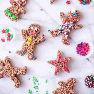 Chocolate Rice Krispies 'Gingerbread' Men