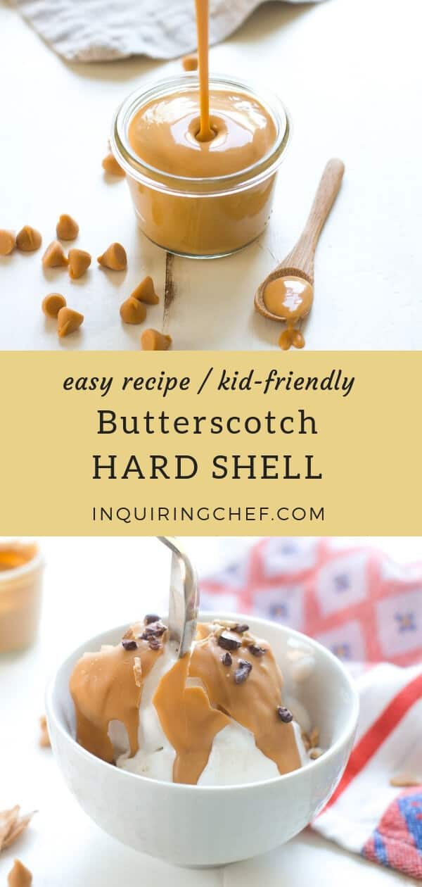 Butterscotch Hard Shell can be done easily at home. DIY these delicious ice cream topping yourself with just two ingredients. Fun, tasty, and kid-friendly.