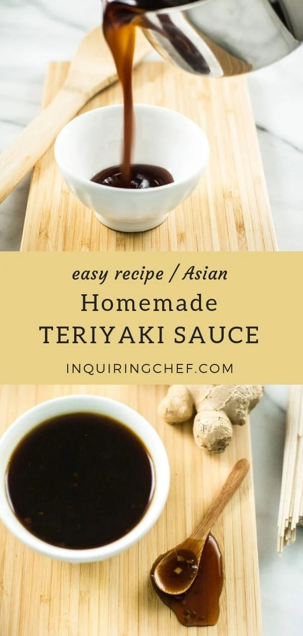 Homemade Teriyaki Sauce - Homemade is so much better than store-bought when it comes to Teriyaki Sauce. This recipe is a staple in our fridge - comes together fast and is all the excuse we need to make a noodle bowl or stir-fry for dinner. Easy recipe. Asian food.