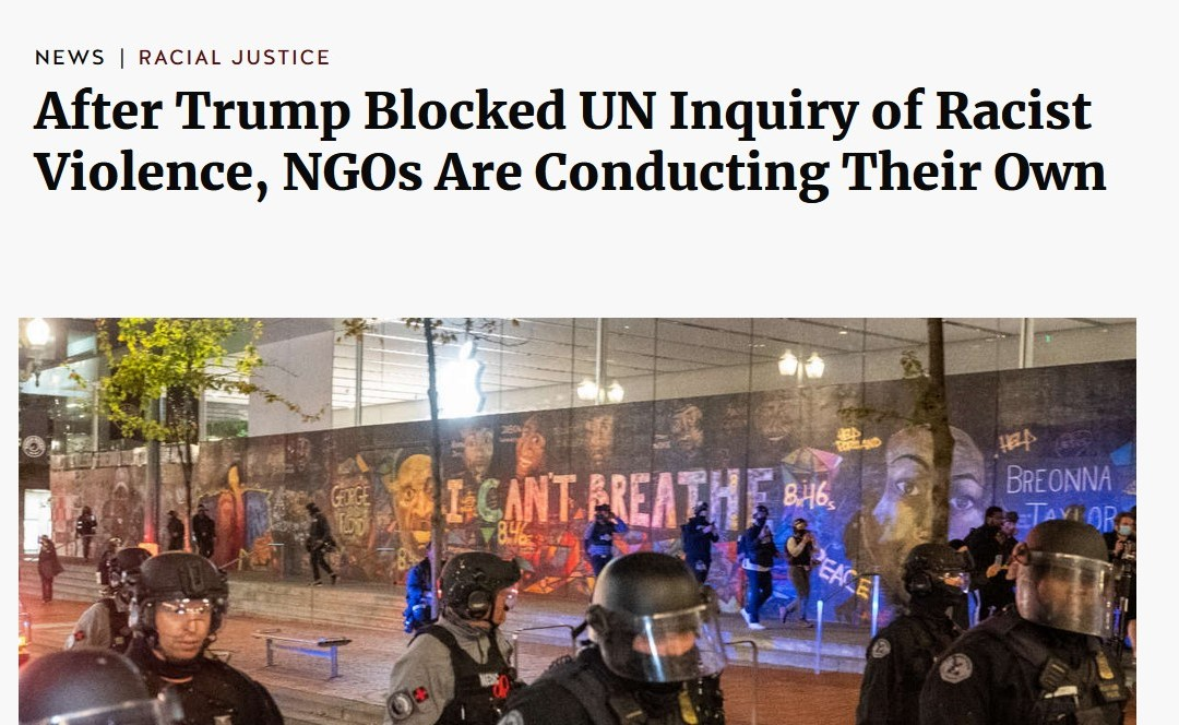 Report: After Trump Blocked UN Inquiry of Racist Violence, NGOs Are Conducting Their Own