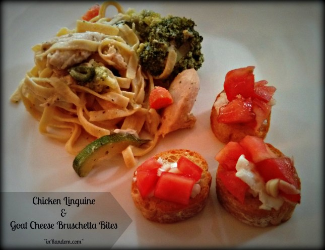 Chicken Linguine & Bruschetta