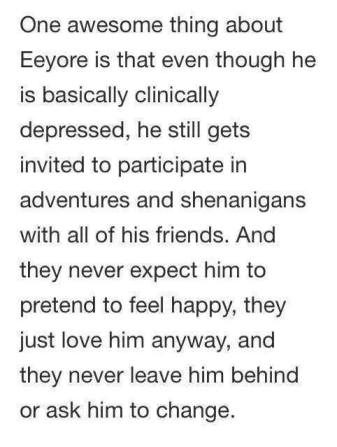 Winnie the Pooh points about Eeyore