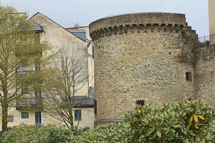 tour, vestige de l'ancien rempart à Rennes