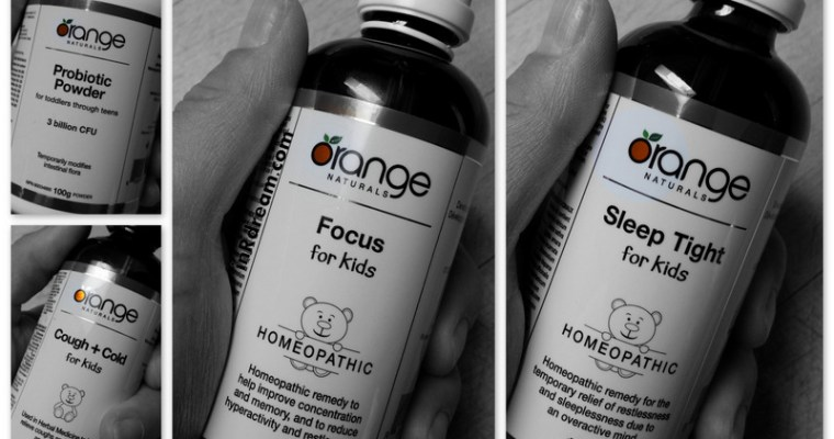 Focused on Back to School Health: Orange Naturals New Kids Homeopathic line-up #ONatural