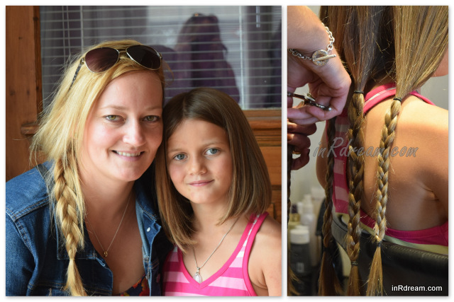 Little Girl Donating Hair to cancer
