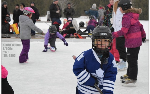 Canadian Backyard Ice Rink Party: Nikon MOM Captures Memories #NikonMOMents