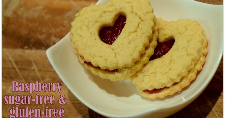 Raspberry Sugar-Free Cookie Hearts Recipe