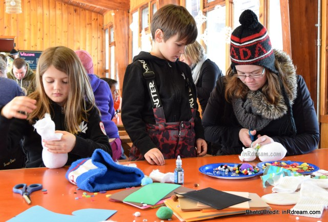 Family Day weekend 2015 Ontario Pioneer Camp. Craft Time