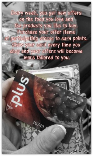 Loblaws PC Plus Points card.