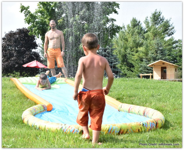 Slackers Slide and Surf Screamin' 20' Water Slide review, Slip and Slide Review, Mastermind, Water Toys, Keeping kids busy in Summer