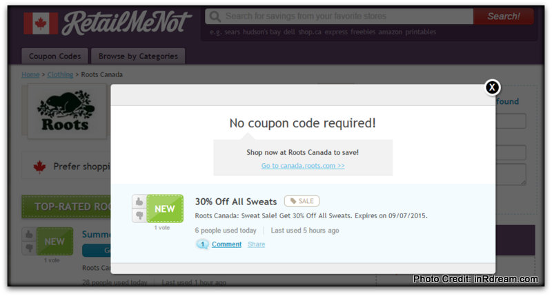 Roots.com coupon code